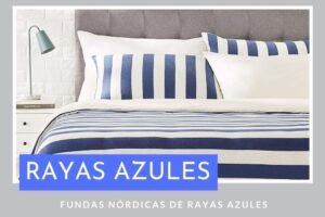 Fundas Nórdicas de Rayas Azules
